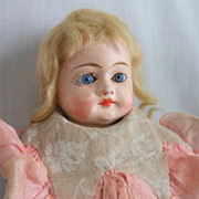 German Papier Mache Doll in Original Costume