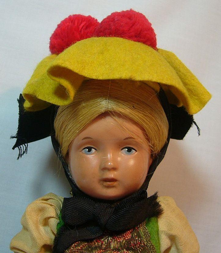 All Original West German Celluloid Ethnic Girl Doll