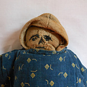 REDUCED Somewhat Strange But Oddly Appealing Hand Made Cloth Doll