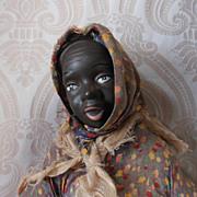 Porcelain Black Character Woman Artist Doll