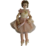 Tiny Cloth Doll Lady with Intricate Detail