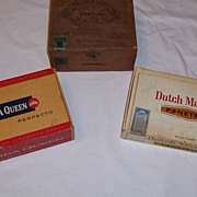 Brooks & Co. Wooden Cigar Box and Misc. Cigar Boxes