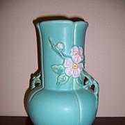"""Weller """"Wild Rose"""" Double Handle Vase"""