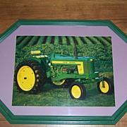 Framed Art Print John Deere Tractor, 1957 Model 520