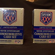 Silver Anniversary Commemorative Card Set - Super Bowl XXV, 2 Boxes