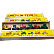 SOLD Shackman Vintage Miniature  Diecast Metal Vehicles MIB 6 To A Box 3 Boxes Included