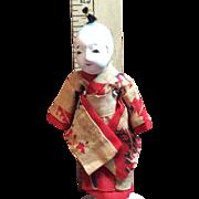 Tiny 4 Inch Vintage Japanese Itchematsu Male Doll