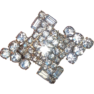 Beautiful Antique/Vintage Blue Stone Brooch 2 and 1/2 inches