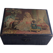 SOLD Vintage Clarks  O.N.T. Rare Child's Sewing Box Sterling Thimble