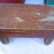 Miniature Wooden Bench Small Doll Stool