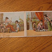 Rare York Folding Double Advertising Victorian Tradecard