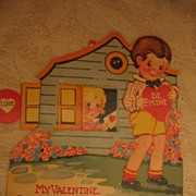 SALE Adorable Mechanical Valentine Little Cottage with Moving Window