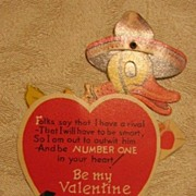 SALE Mechanical C Twelvetrees Valentine with Dog and Duck