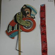 Wonderful Vintage Paper Toy Skunk Playing Cymbals