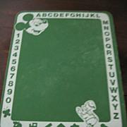 SALE Walt Disney Productions Mickey & Donald Green Chalkboard