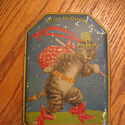REDUCED Vintage Puss in Boots Toffee Tin England Blue Bird Toffee Tin