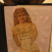 SALE 1800s Paper Dolls Hoods Enterprise Brand Coffee Mother Goose Animals