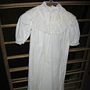 Antique Christening Gown for Large Doll or Baby Christening