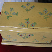 Miniature Chest or Trunk for Doll Display Old Hand Painted Treasure