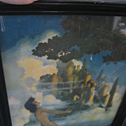 SALE Vintage Maxfield Parrish Dinky Bird Framed Print