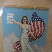 SALE PENDING Patriotic Lady Liberty Print from Scrapbook