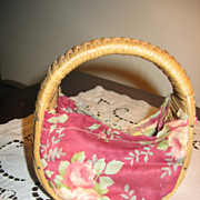 Miniature Childs Sewing Basket or Purse