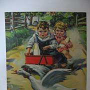 SALE Favorite Vintage Calendar Print Milk For Pep Kids with Milk Bottles