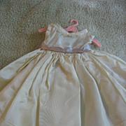 Lovely Vintage Satiny Doll Dress with Lavender Sash