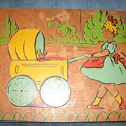 SALE Adorable Girl and Her Dolly Wooden Childrens Puzzle by J K Straus
