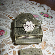 REDUCED Minature Dollhouse Filigree Grand Piano and Bench Early 1900s