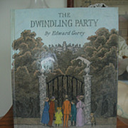 REDUCED The Dwindling Party by Edward Gorey First Edition Signed By Author