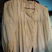 Antique Ladies White Blouse or Waist for Reenactments