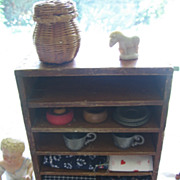 REDUCED Toy Cupboard Wood Shelf Ginny Sized Primitive