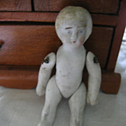 SALE Miniature Bisque Doll Pin Jointed for Dollhouse