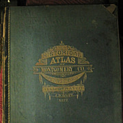 SALE 1877 Montgomery County Pa Illustrated Atlas