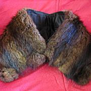Ladies Vintage Fur Collar