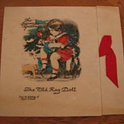 Vintage Rag Doll Buzza Christmas Card