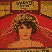 Warner Brothers Advertising Movie Ink Blotter with Bride