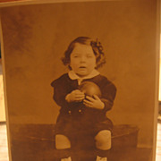 2 Early 1900s Photos Kids with Toys