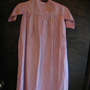 Old Precious Pink Primitive Baby Doll Gown