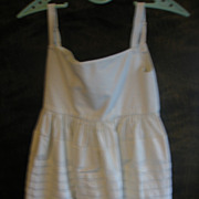 Early Baby or Childs Petticoat Slip with Rows of Pin Tucking