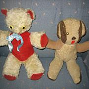 Old Handmade Wool Toy Dog