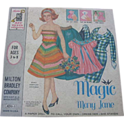 Vintage Magic Mary Jane Paper Dolls in Original Box Plus Mary Lou