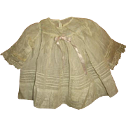 Organdy Dress for 1930s & 40s Composition Baby Doll