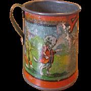 Ohio Art Mother Goose Tea Set Teapot & 2 Saucers Early 1930s