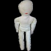 Folk Art Rag Doll Forgotten for Years!! Never Used or Loved