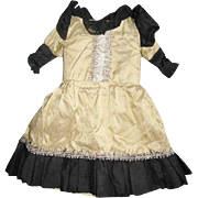China Head or French Fashion Doll Dress Lovely Silk and Lace Dress Found on Greiner Head Type Doll