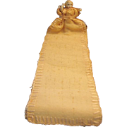 Unusual Miniature Wire Jointed Doll with Long Bookmark Type Outfit Sewing Keeper