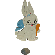Vintage Candy Container Cute Bunny