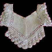 Unusual Crocheted Dress Bodice or Bib for Doll